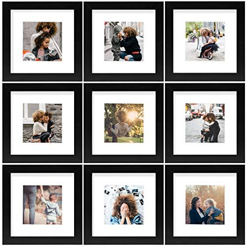 Golden State Art Smartphone Instagram Frames Collection Set Of 9 6x6 Inch Square Photo Wood Frames With White Photo In 2020 Frame Collection Instagram Frame Frame