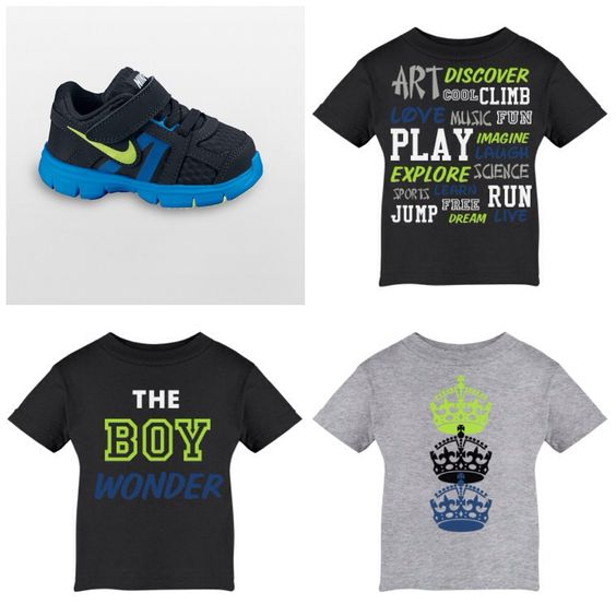 Custom tees for my son's sneakers. I might need to start a kids line!