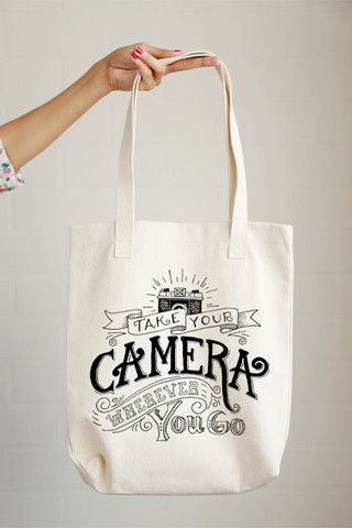 Take Your Camera Tote Bag: