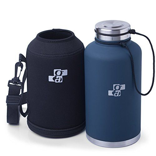 Upgraded Beer Growler And Water Bottle 64 Oz Insulated Stainless Steel Vacuum Growler And Water Bott Beer Growler Insulated Water Bottle Metal Water Bottle