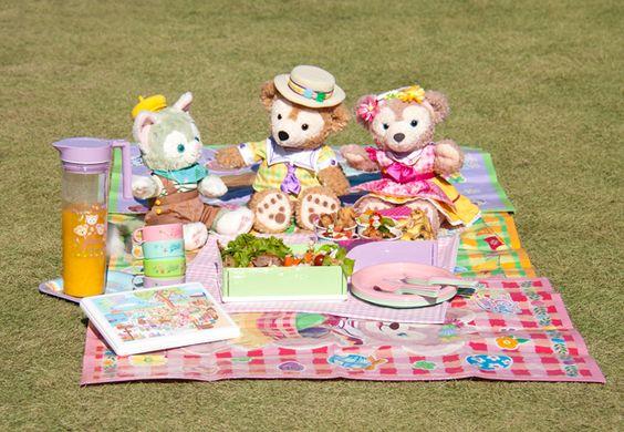 Tokyo Disney Sea, Duffy, Sherry Mae, Jeratoni, boîte à lunch, assiette, tasse, cuillère et fourchette