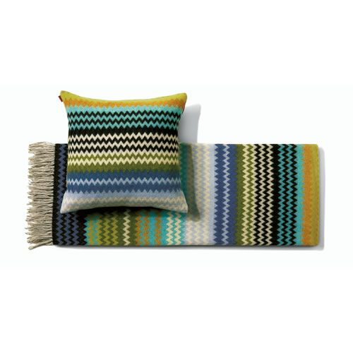 Humbert Throw in Blended Wool Blue & Green Shades