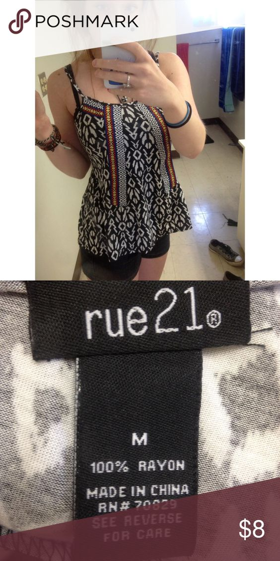 Never worn Rue 21 top Aztec print spaghetti strap tank top • size medium • perfect condition - never worn! Rue 21 Tops Tank Tops