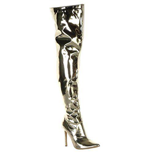 Chaussure Mode Ballerine Slip-on Femme Talon Haut Bloc 5 CM Angkorly