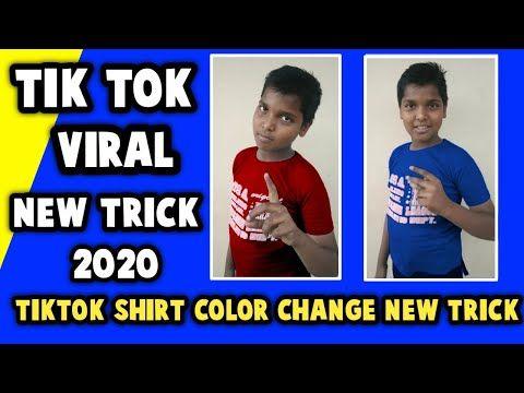 Tik Tok Shirt Color Change New Trick Tik Tok Dress Color Change Effect In Telugu Tik Tok Shirt Color Youtube Tiktokshirtc Colorful Shirts New Tricks Tik Tok