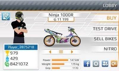 Download Drag Bike Mod Apk Android Terbaru 201m Indonesia