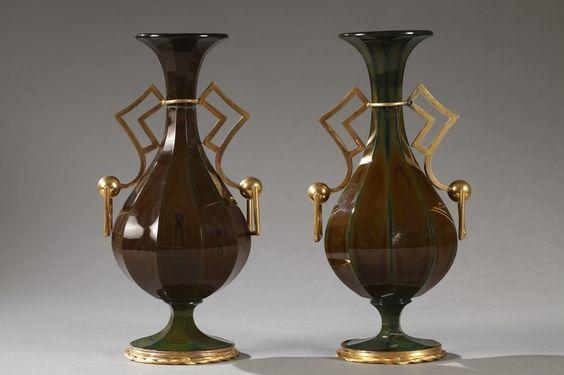 Pair of Lithyalin Vases - Charles X