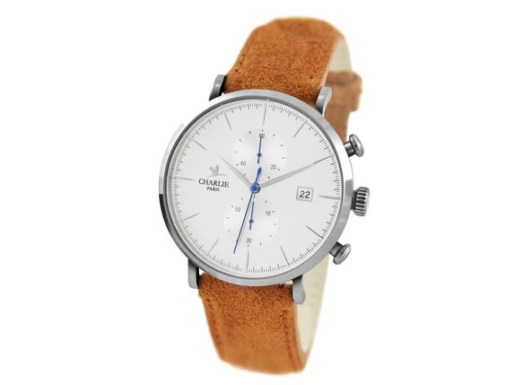 La montre chronographe Made in France Horizon - Acier - Charlie Watch