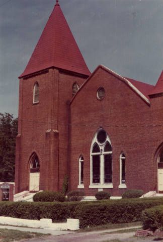 View of Springfield Baptist Church in Augusta, Georgia, ca. 1972. Founded in 1787, Springfield is the oldest African-American church in the United States.Zach S. Henderson Library. Special Collections