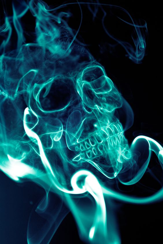 smoking skull live wallpaper for android