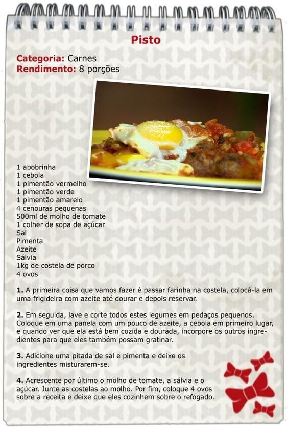 Bloquinho do Anonymus: aprenda a fazer o delicioso Pisto Espanhol