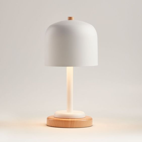 White Modern Dome Touch Table Lamp Reviews Crate And Barrel Touch Table Lamps Table Lamp Touch Table