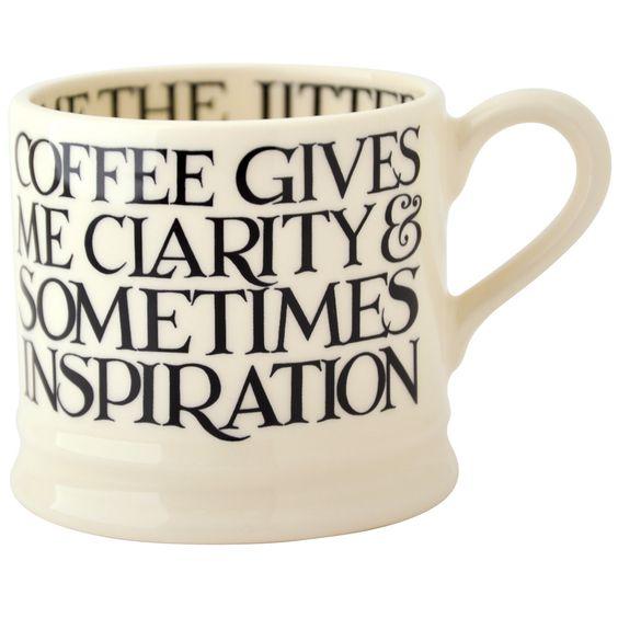 Emma Bridgewater Black Toast All Over Baby Mug....coffee gives me clarity