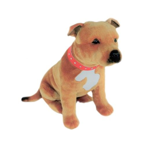 Brown Staffie Toy From Www Twowoofs Co Uk Staffordshire Bull