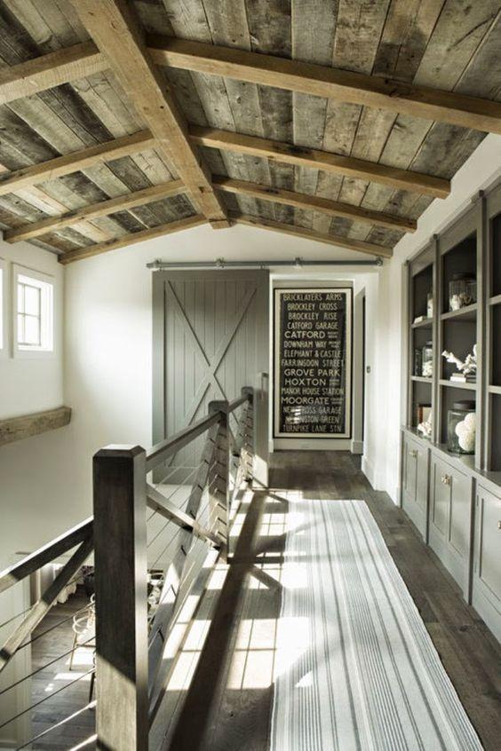 Farmhouse sliding barn doors and barn doors on pinterest for Farmhouse sliding door