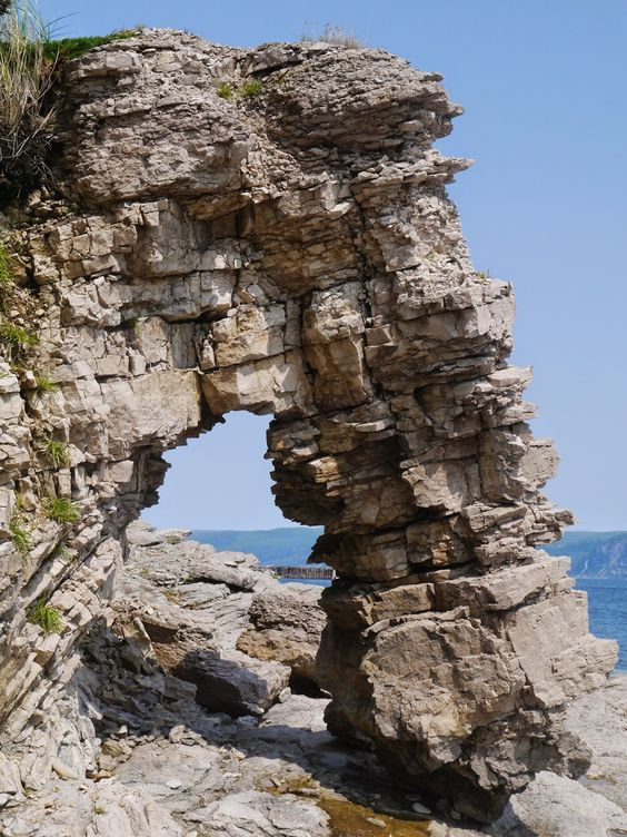 Sense and Simplicity: Rock arch on Port-aux-Port peninsula, Newfoundland: