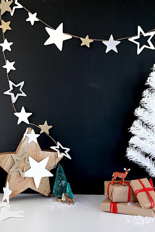 Diy Paper Garlands Homemade Christmas Decorations Christmas Decor Trends Christmas Tree Decorations Christmas Decorations