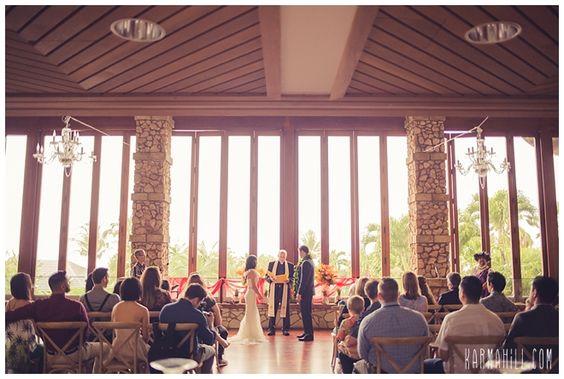 Indoor Maui Wedding at the Hotel Wailea Anuhea Room