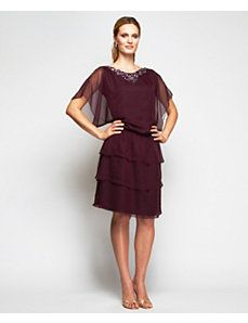 Eggplant Only Dress by Alex Evenings for mom