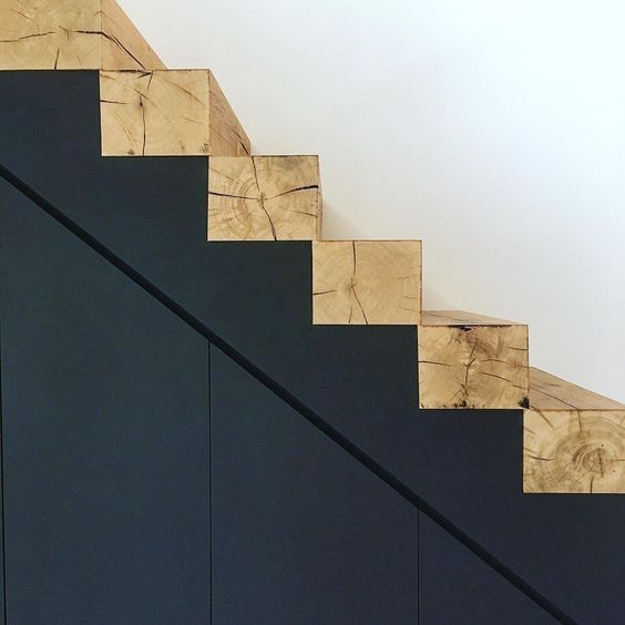 Squared Timbers As Stairs Stairs Design Staircase Design House