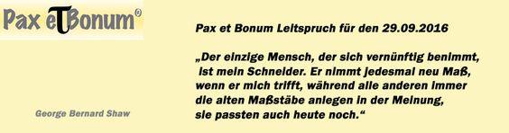 Pax et Bonum Leitspruch für den 29.09.2016
