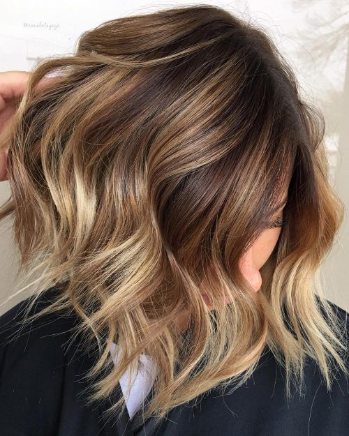 Medium Length Brown To Caramel Ombre Ombre Hair Color Brunette Hair Color Medium Length Hair Styles