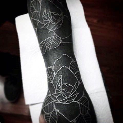 Top 111 White Tattoo Ideas 2020 Inspiration Guide White Tattoo Black Tattoo Cover Up Blackout Tattoo