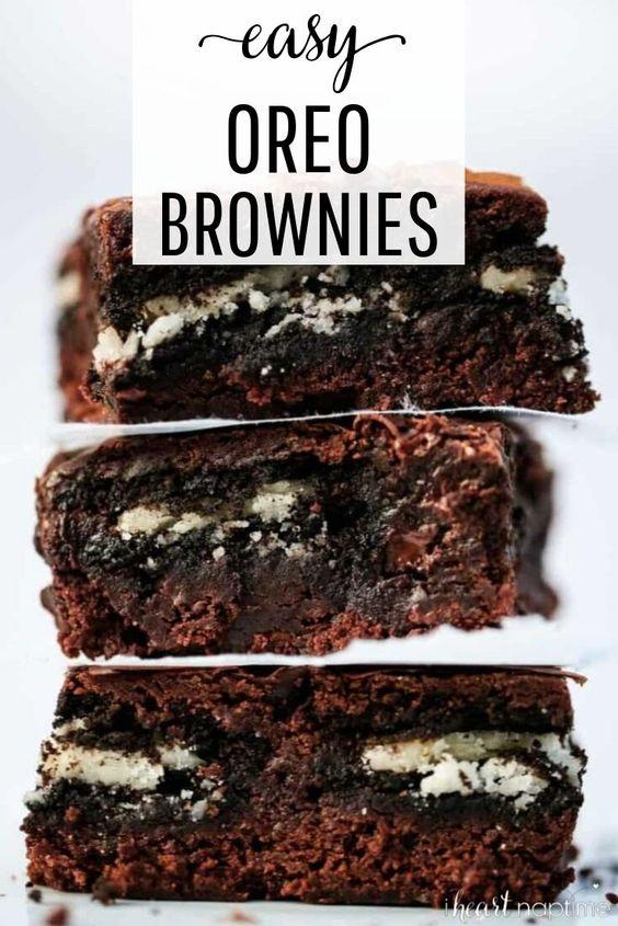 EASY Oreo Brownies