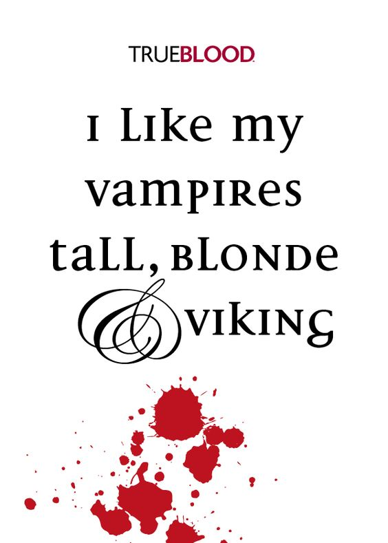 Vampire: tall blonde & Viking