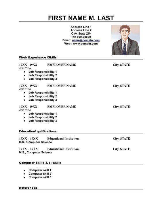 Contoh Resume Resume Work Experience No Response