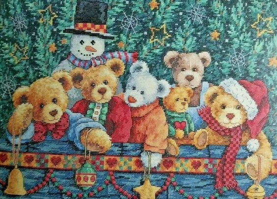 Gold /'N Cross Christmas Ornament Cross Stitch Kit Some Bunny Loves You NOS