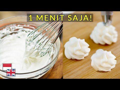 Tanpa Mixer Cukup Satu Menit Resep Whipped Cream Cara Membuat 100 Sukses Youtube Whipped Cream Cream Butter Cream