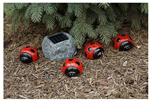 E Joy® E Joy® Ladybug Solar Red Light Set Solar Garden Light For Patio,  Garden, Lawn (4 Pack Solar Ladybug)   Features U2013 Utilizes Solar Energy To U2026