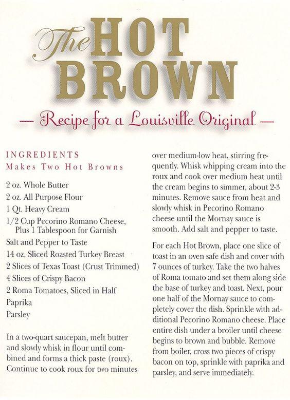 The original and best Hot Brown recipe