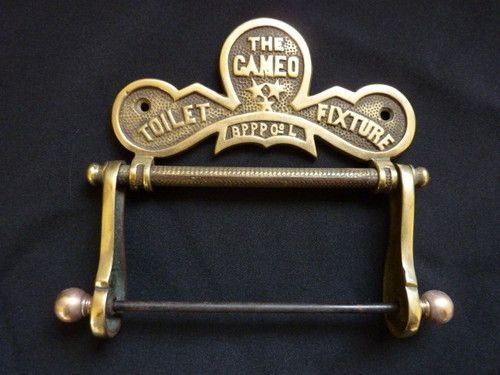 Solid brass antique toilet roll holder 39 the cameo Antique toilet roll holders