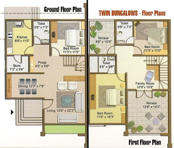 floor plans for bungalows Google Search Houses Old New