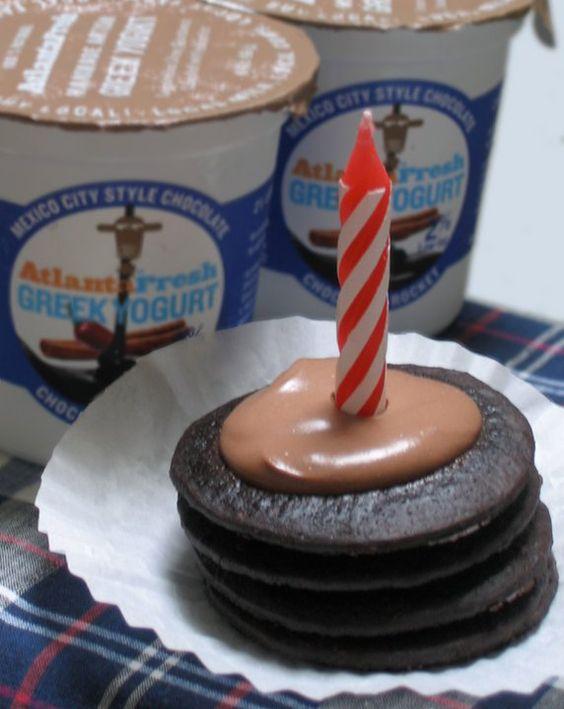 Chocolate Rocket Icebox Cakes: Spread 1 1/2 tsp AtlantaFresh Chocolate ...