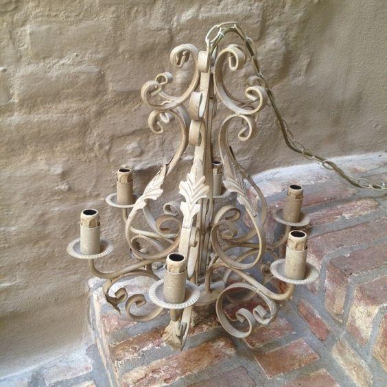 smeedijzeren kroonluchter hanglamp landelijk