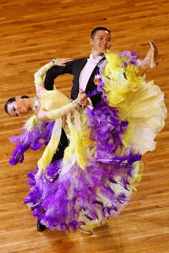 Lei Ying & Wu Zhian of China compete in the the Standard-Slow Foxtrot, 16th Asian Games, November 13, 2010 (Photo by Feng Li/Getty Images) (Ballroom Dance, DanceSport)