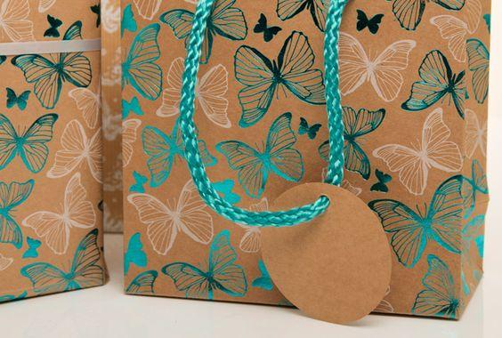 luxury butterflies gift wrap - Buscar con Google