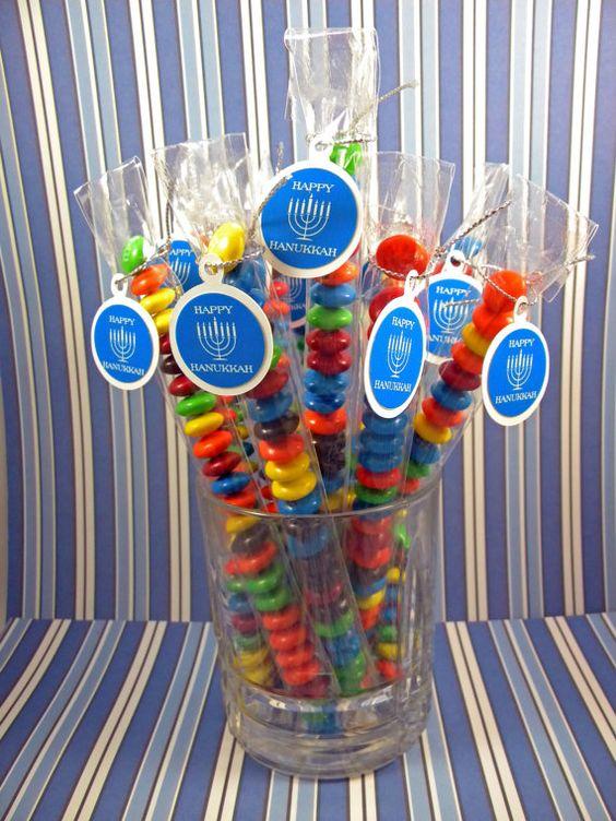 Hanukkah Menorah Candy Treat Bag