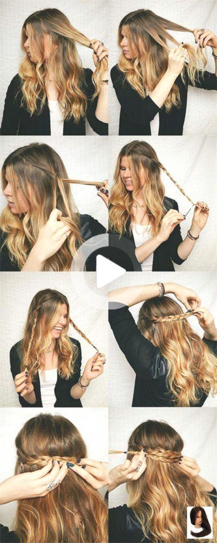 Beginner Easy Hairstyles For Beginners Easy Hairstyle For Learning Elegantweddinghairstyles In 2020 Medium Length Hair Styles Hair Styles Medium Hair Styles