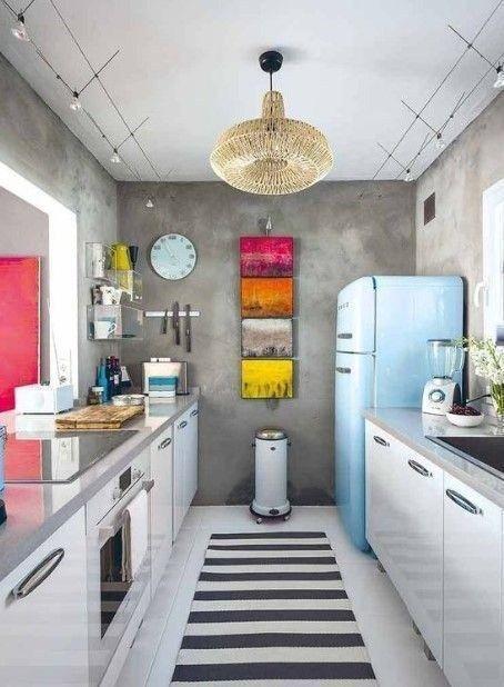 25 Beautiful Small Kitchen Design Ideas 2019 Small Galley Kitchens Kitchen Design Small Funky Kitchen