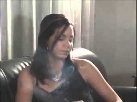 Nose Exhale Smoking Girl 10 - YouTube