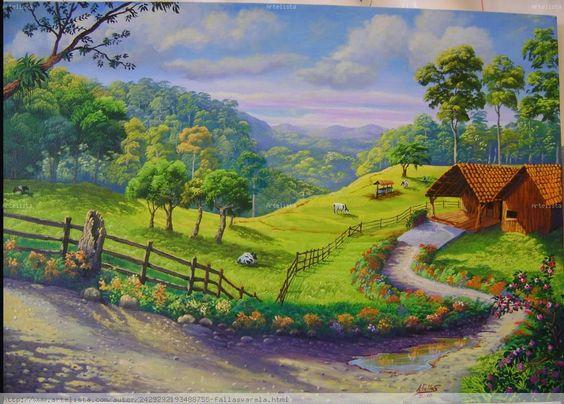 Paisajes para pintar cuadros buscar con google for Pinturas para pintar