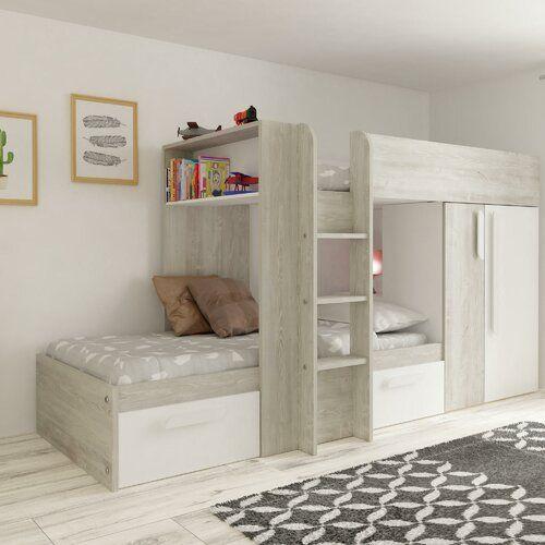 Aidan European Single High Sleeper Bed With Drawers Harriet Bee