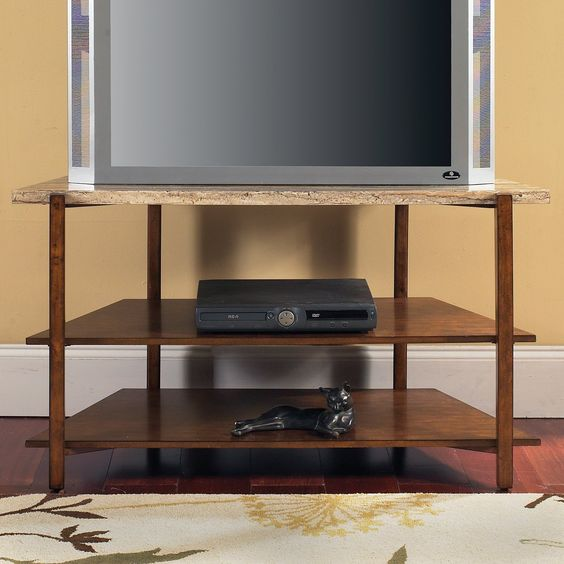 Steve Silver Company TV500TV Tivoli Faux Marble Top TV Stand