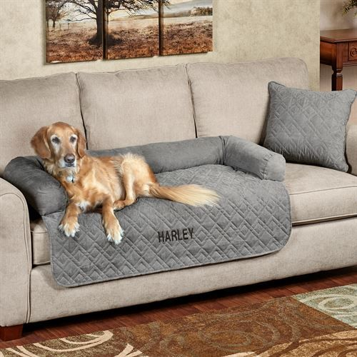 Super Mason Quilted Faux Suede Pet Cover With Bolster Melodys Cjindustries Chair Design For Home Cjindustriesco