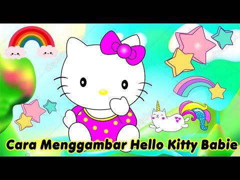 Cara Menggambar Hello Kitty Babie Youtube Anak Kucing Hello Kitty Gambar