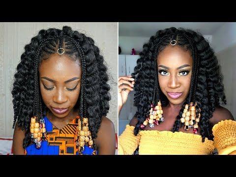 Fulani Braids Crochet Beads Tutorial Sincerelyoghosa Youtube Braids With Beads Fulani Braids Natural Hair Styles Easy